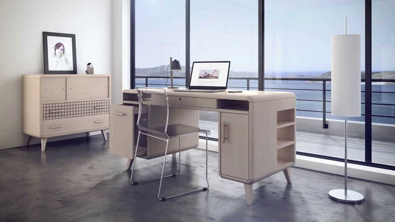 bureau design zinezo en bois massif fabriqu en france youtube