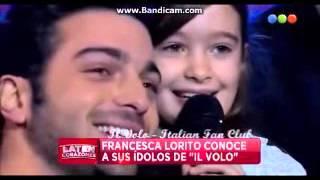 Il Volo en Laten Corazones de Telefe realizzano il sogno di Francesca Lorito