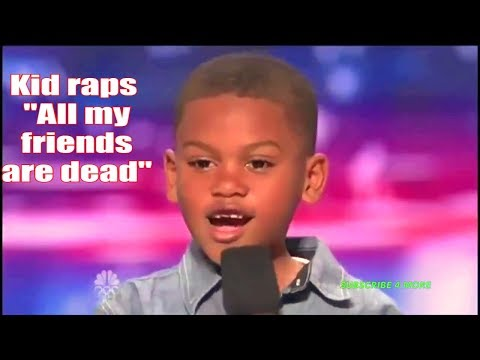 """7 Year old raps """"All my friends are dead"""" on America's Got Talent"""