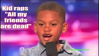 7 Year old raps &quotAll my friends are dead&quot on America&#39s Got Talent