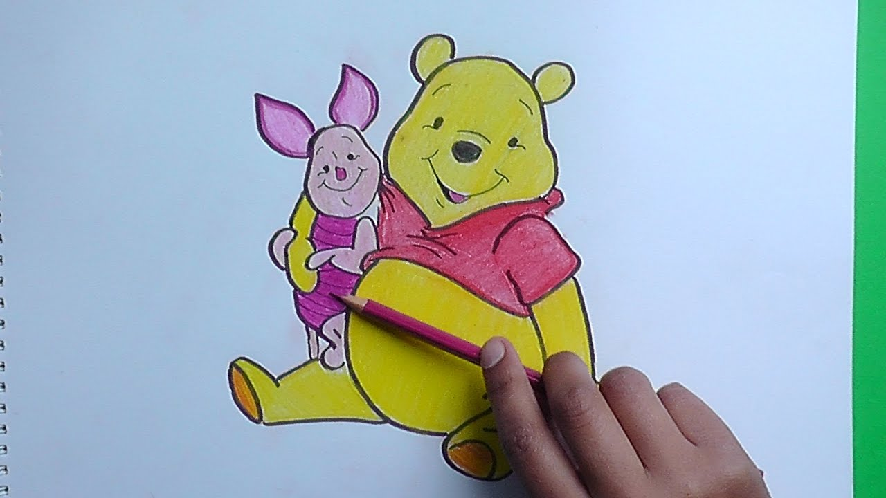 Dibujando Y Coloreando A Winnie Pooh Y Piglet Drawing And Coloring Winnie The Pooh And Piglet