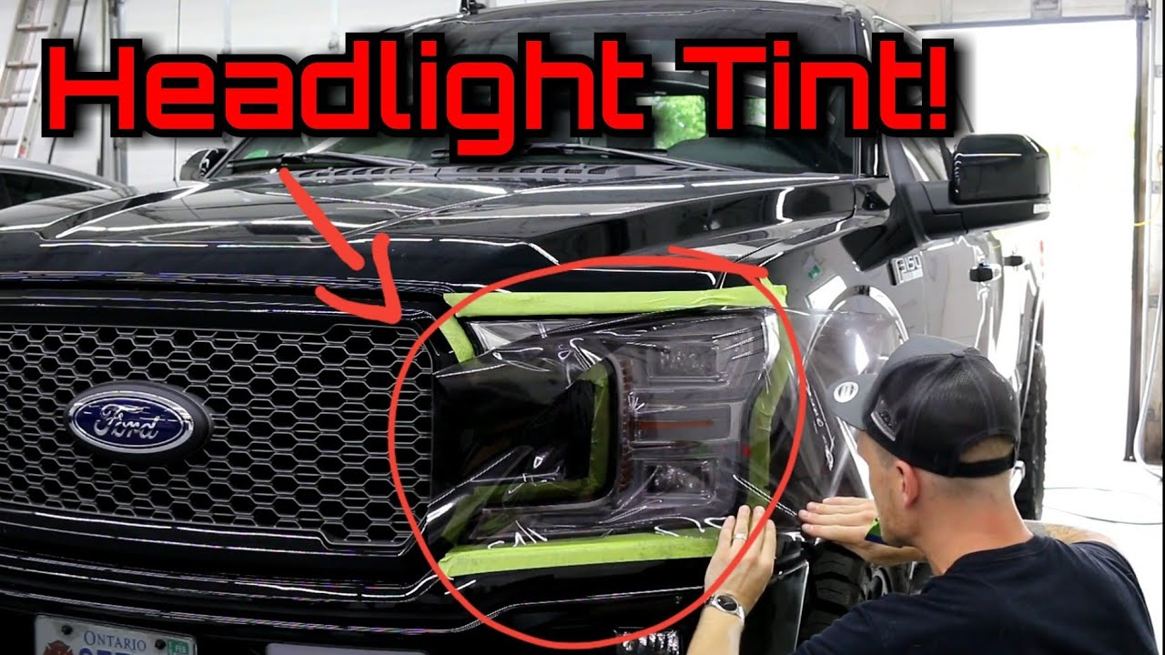 HARD TINT JOB 4 SHOPS TURNED DOWN  FORD F-150 Easiest Headlight / Tail  Light Tint To Use