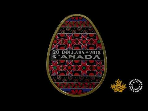 1 oz. Pure Silver Gold-Plated Coin - Golden Spring Pysanka