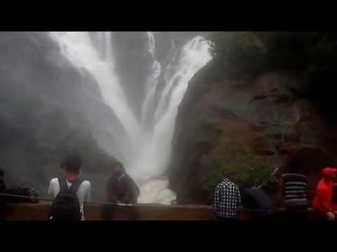 DudhSagar  Falls at its best || Roaring Mood-- Mahadayi River & Mandovi river