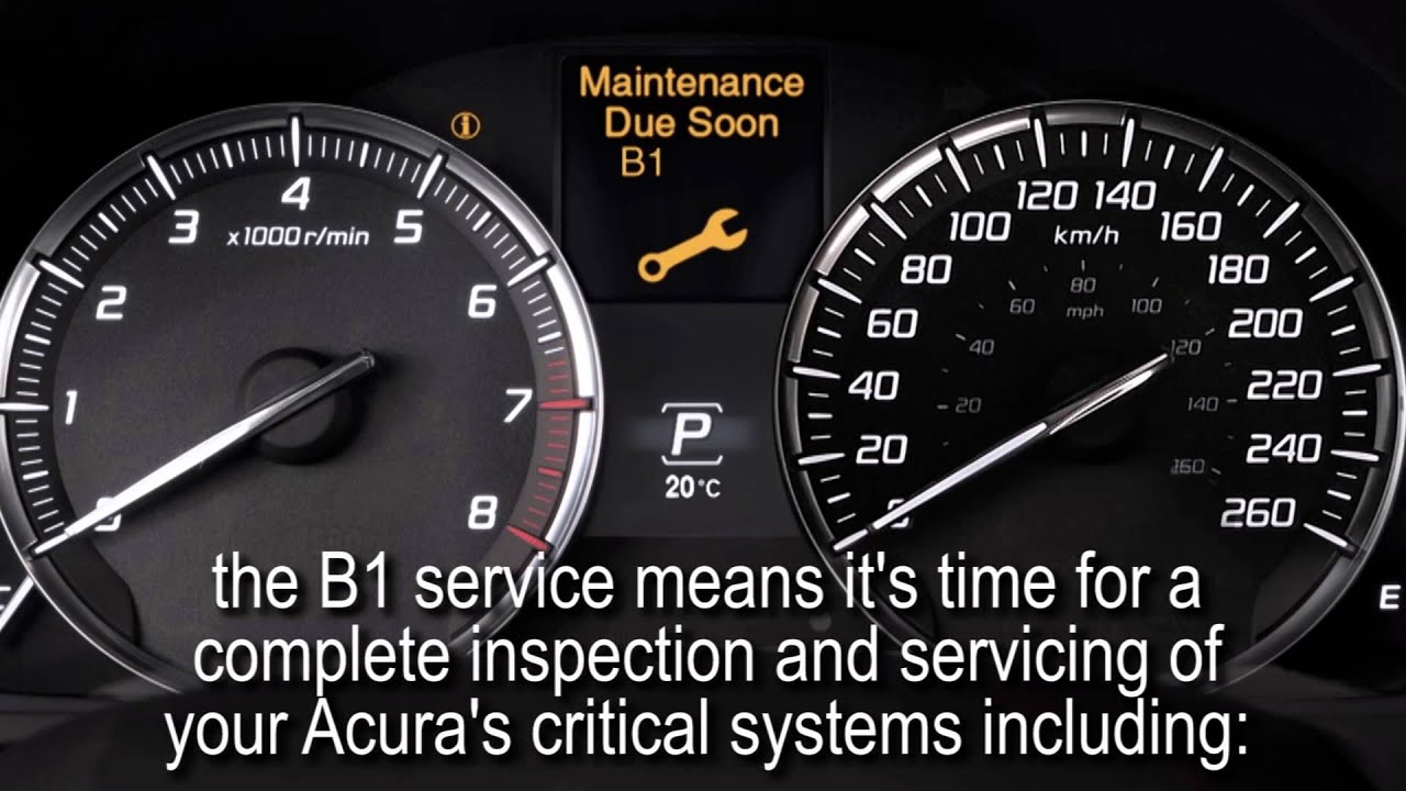 Protect your investt with Acura's Maintenance Minder B Service ...