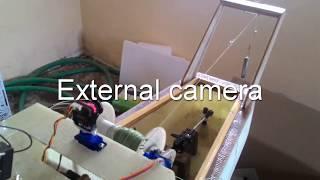 rc fishing boat   winch test