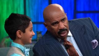 Kedar talks computer code on Steve Harvey TV for Little Big Shots Week
