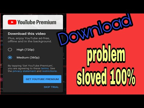 YouTube video download problem    download problem    YouTube premium download problem    P3 king   