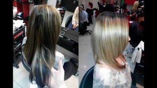 3д окрашивание, осветление темных волос в бежевый блонд с использованием Niophlex(3d coloring, lightening dark hair in beige blond with hair protection system Niophlex., 2016-02-04T05:55:15.000Z)