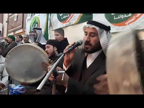 المداح سعد الشاماني  مديح حربي بحق الساده النعيم في قاعه البونيسان