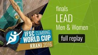Watch the full replay of the Men and Women Lead Finals in Kranj! Al...
