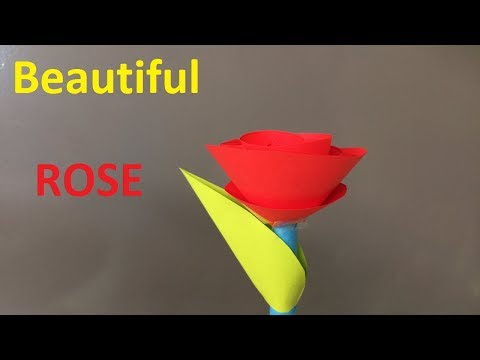 How to make a paper rose | How to make simple paper roses | Beautiful Paper roses