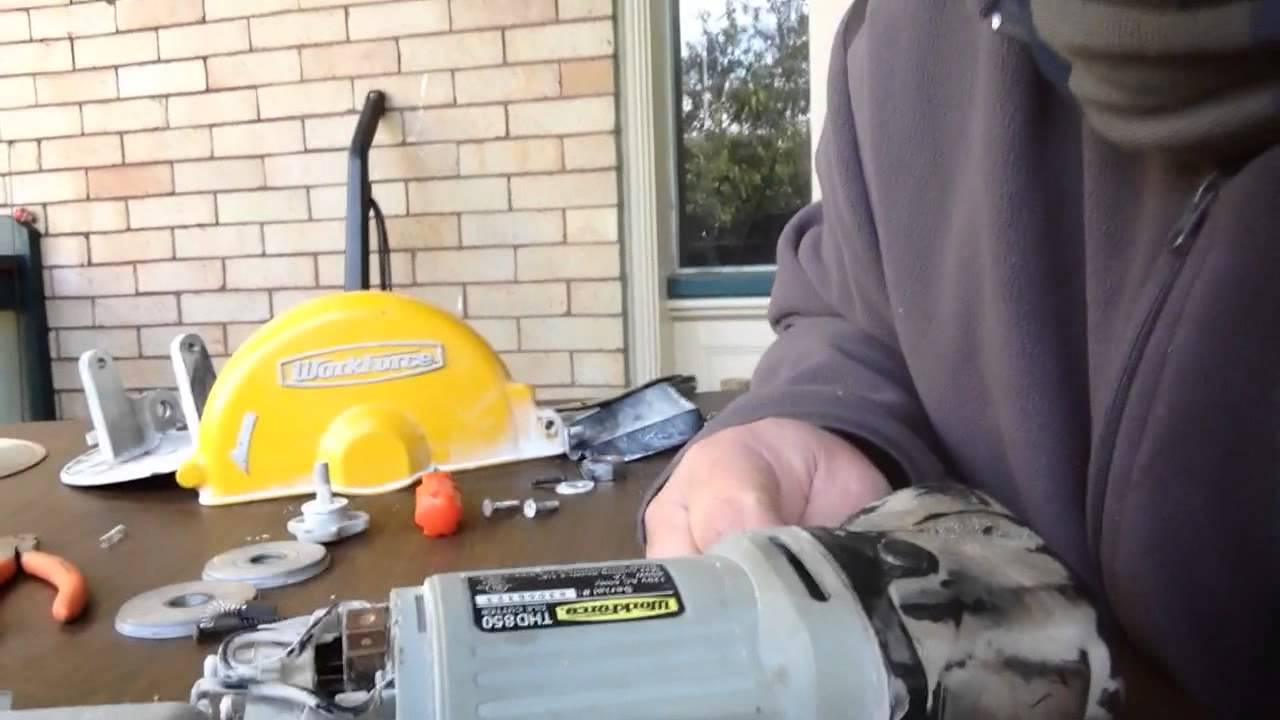 how to fix work force tile cutting saw