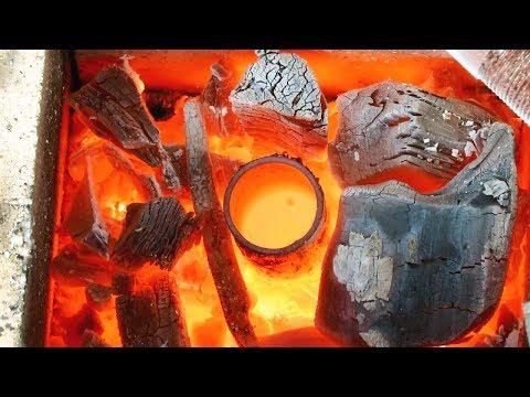 Лесной горн для плавки металла