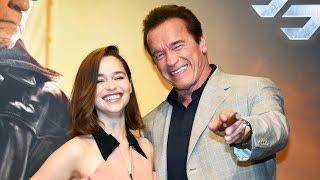 新「ターミネーター」来日記者会見動画!シュワちゃんとエミリア・クラークが語る本作の魅力とは?Terminator: Genesis Press Conference in Japan!