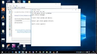 HP mouse drivers installation in windows 8.1 and windows 10