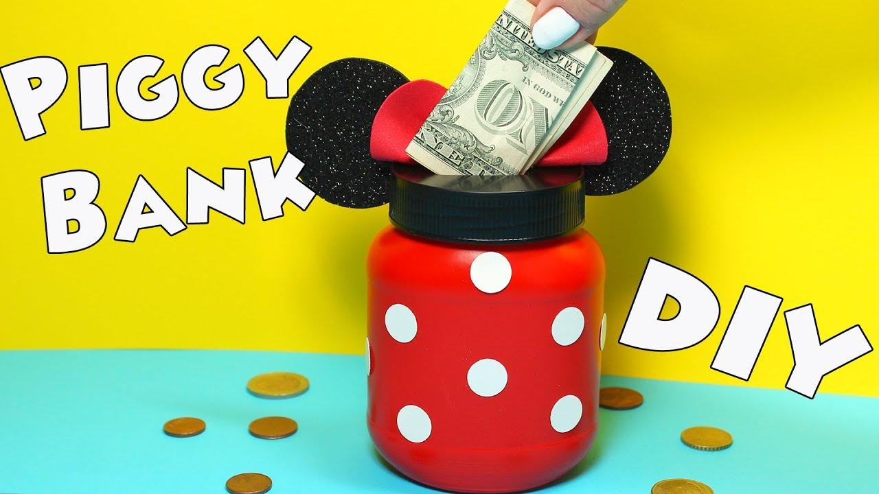 Diy Minnie Mouse Piggy Bank Ears Money