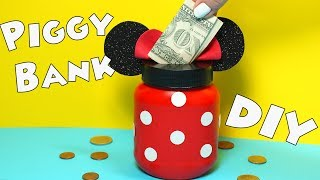 DIY Minnie Mouse Piggy Bank - Mouse Ears Money Bank