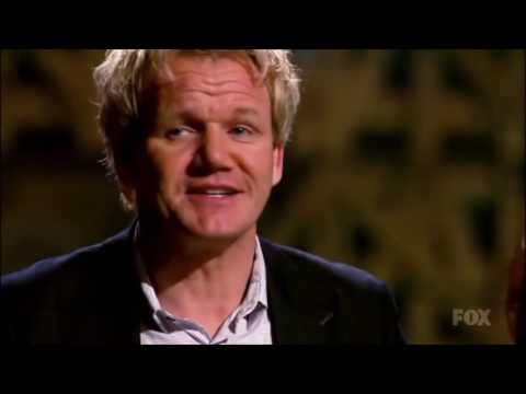 Gordon Ramsay meets Glasgow native during the Masterchef competition