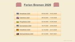 Ferien Bremen 2020 - Termine Schulferien
