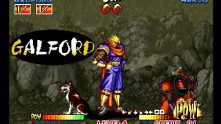 Samurai Shodown III: Galford playthrough / lvl-4 【60fps】