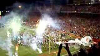 Miami Hurricanes takin the field for the last time(11/10/07)
