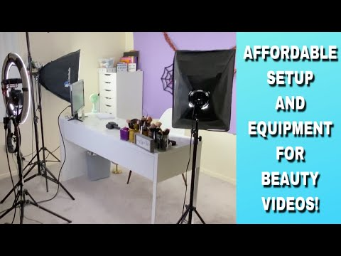 MY FILMING SETUP & EQUIPMENT FOR BEAUTY VIDEOS