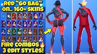 "NEW ""GO BAG"" BACK BLING Showcased With 160+ SKINS! Fortnite Battle Royale (GO BAG COMBOS & STYLES)"