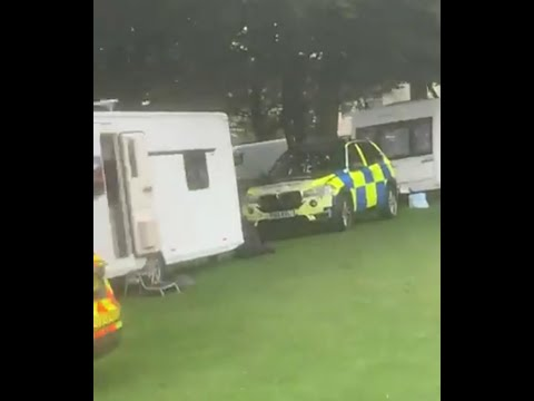 Travellers out camping get Caravans Seized by the Police