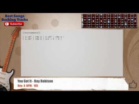 You Got It - Roy Orbison Guitar Backing Track with chords and lyrics