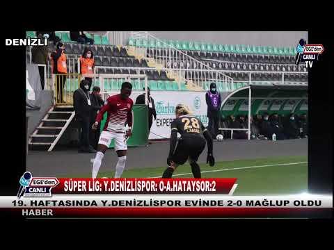 Süper Lig: Y.Denizlispor: 0 - A.Hatayspor: 2 (Maç sonucu)