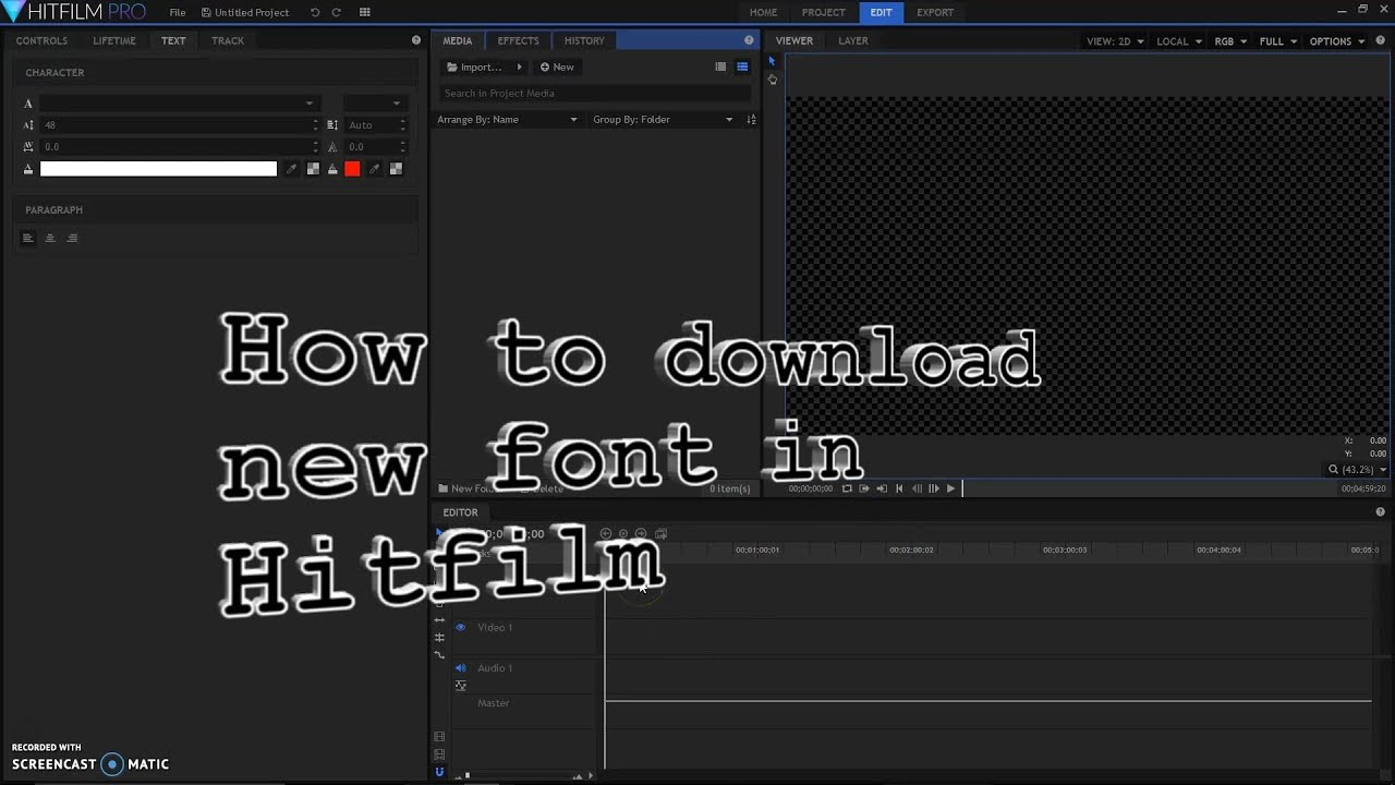 How to Download Fonts Into Hitfilm