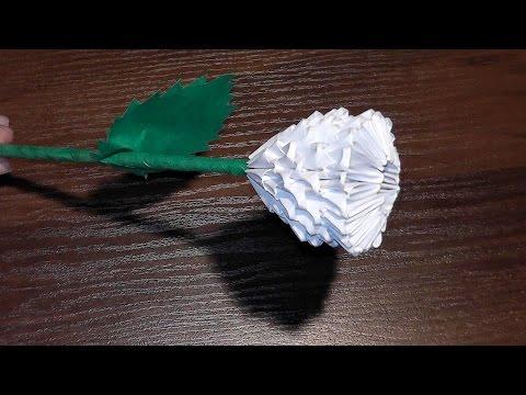 Роза Из Модулей Мастер Класс | Модульное оригами