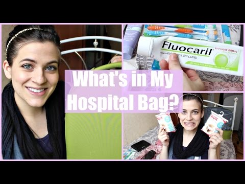 WHAT'S IN MY FRENCH HOSPITAL LABOR BAG? | Not what they ask you to bring in the USA!