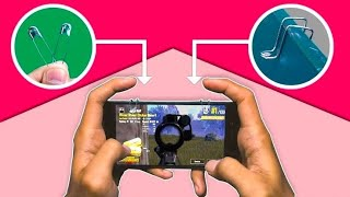 How to Make Auto AIM L1 R1 Button PUBG & Free Fire From Safety pins | L1 Y R1 Bottom