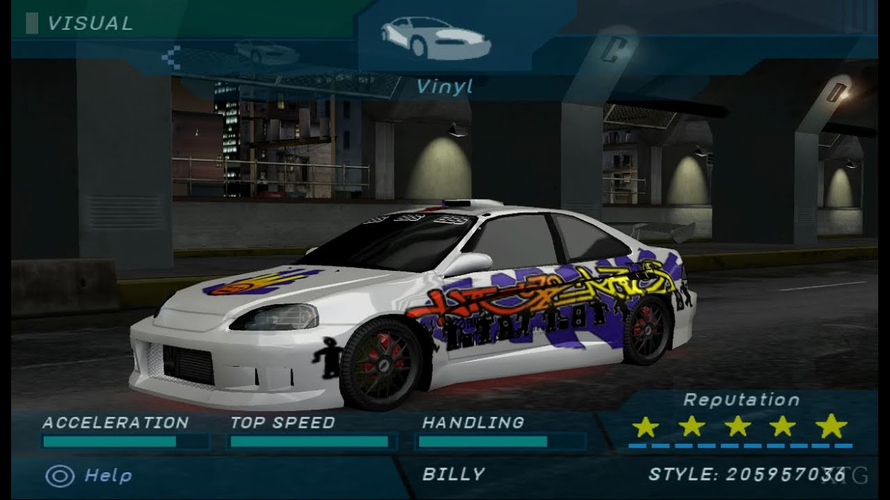need for speed underground honda civic ps2 gameplay hd. Black Bedroom Furniture Sets. Home Design Ideas