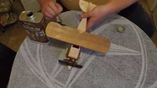 Making a wooden toy biplane