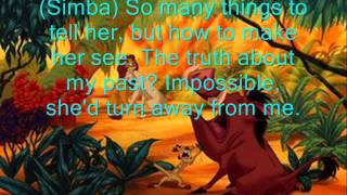 Can You Feel the Love Tonight? Karaoke Instrumental w/ Lyrics & Timon and Pumbaa vocals