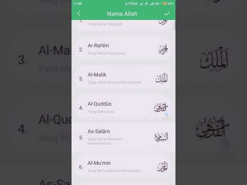 Asmaul Husna Nama Nama Allah Yang Baik