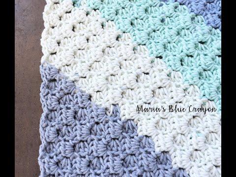 Corner to Corner with Half Double Crochet Tutorial using Caron Cotton Cakes