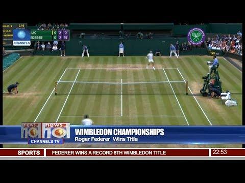 News@10: Roger Federer Wins Wimbledon Championship Title 16/07/17 Pt 4