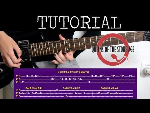 Cómo tocar Go with the flow de Queens of the stone age (Tutorial de guitarra) / how to play