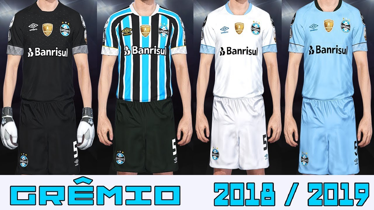 ca9011b54ae47 PES 2018 - UNIFORME GRÊMIO 2018 2019 - PC PS4 - YouTube