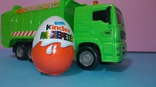 Kinder Surprise Egg Unboxing Garbage Truck Transporting overraskelse egg