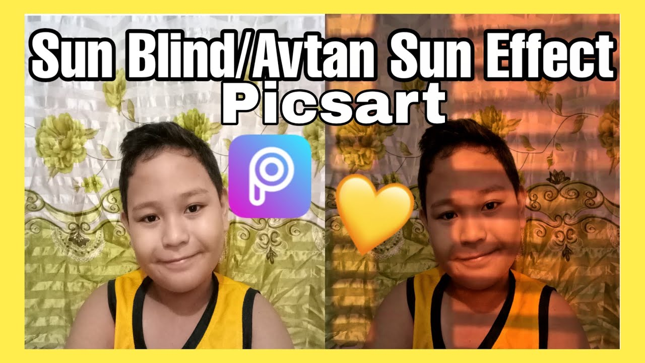 Sun Blind/Avtan Sun Effect/Window Sunkissed in PicArt Tutorial |Nicko Pelagio