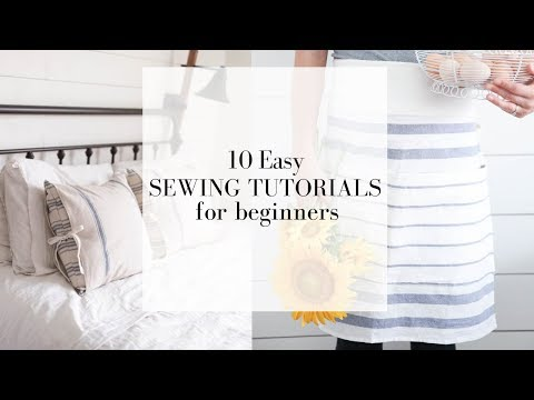10 Easy Sewing Tutorials for Beginners | FREE ONLINE SEWING COURSE