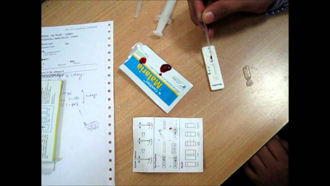 How to test malaria through malaria kit youtube solutioingenieria Gallery