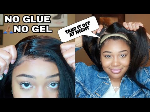 LAY Your LACE WITHOUT ANY Glue Or Gel & TAKE IT OFF Easy | Hairvivi