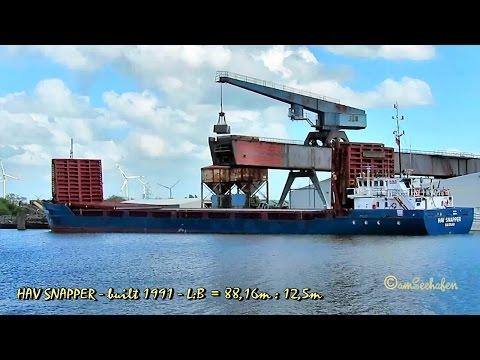 coaster HAV SNAPPER C6XN4 IMO 9001813 Emden cargo seaship merchant vessel KüMo Seeschiff