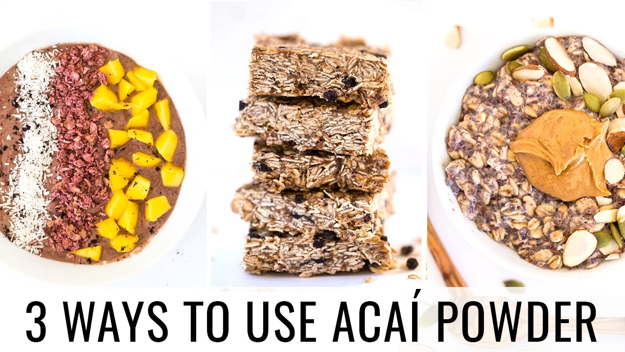 HOW TO USE ACAI POWDER | 3 vegan recipes